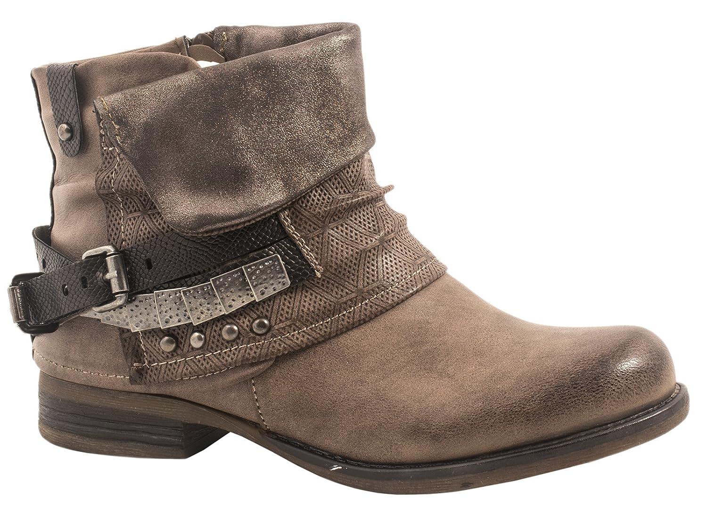 élara Femme confortable Bottines pour femme femme | confortable Ryan Biker Boots | métallique Print Rivets | Chunky Ryan Kaki 6655c45 - robotanarchy.space
