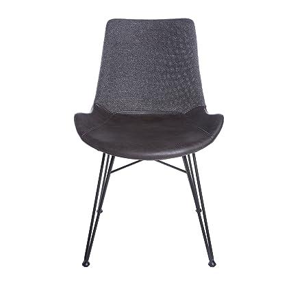 7b3412ea32ec Amazon.com - Euro Style 17635DKGRY Alisa Side Chair