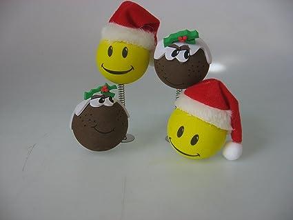 Navidad bola de antena 4 pieza colección, antena de coche ...