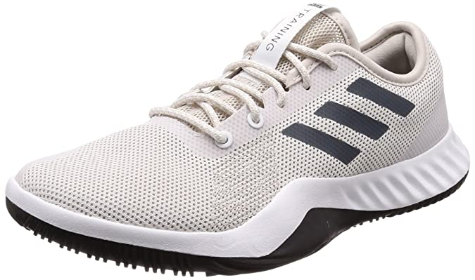 Mens Crazytrain Lt Fitness Shoes, White/Grey adidas