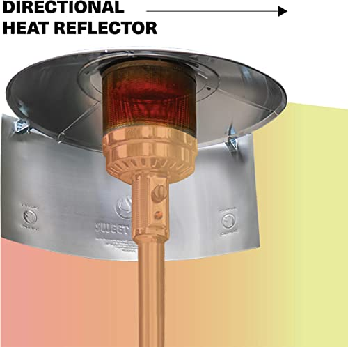 SWEET HEAT – Heat Focusing Reflector for Round Natural Gas and Propane Patio Heaters