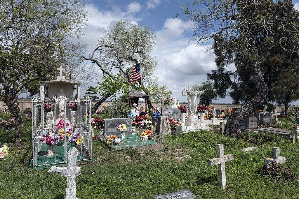 24 x 36 Giclee Print of Garcia Cemetery a Small Country Cemetery Near The Little Settlement of Los Indios in Eastern Cameron County Near The Rio Grande River Border with Mexico r07 41712 by Highs