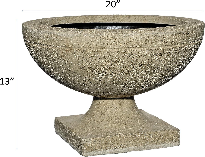 Natural Classic Home and Garden LS4071 LavaStone 22 Elegant Urn Planter