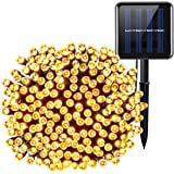 Criacr Solar Powered String Lights, (200 LED, 8 Modes) Starry Fairy Lights, 72ft/ 22m Solar Fairy String Lights, Outdoor/Indoor Ambiance Lighting for Christmas, Garden, Home, Patio, Party, Bedroom(Warm White)