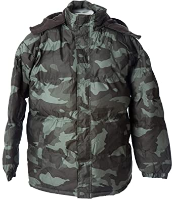 e34e13973a844 Polar Ice Lion Force Mens' Warm Puffer Coat Camouflage Hooded Jacket Fleece  Lining (Small