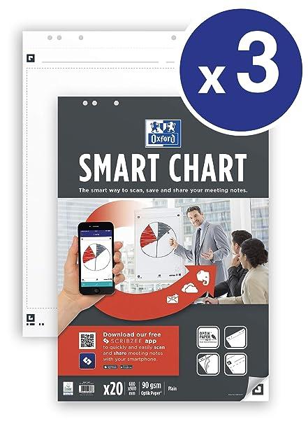 OXFORD Flipchart-Papier Smart Chart blanko  Flipchartblöcke NEU!!!