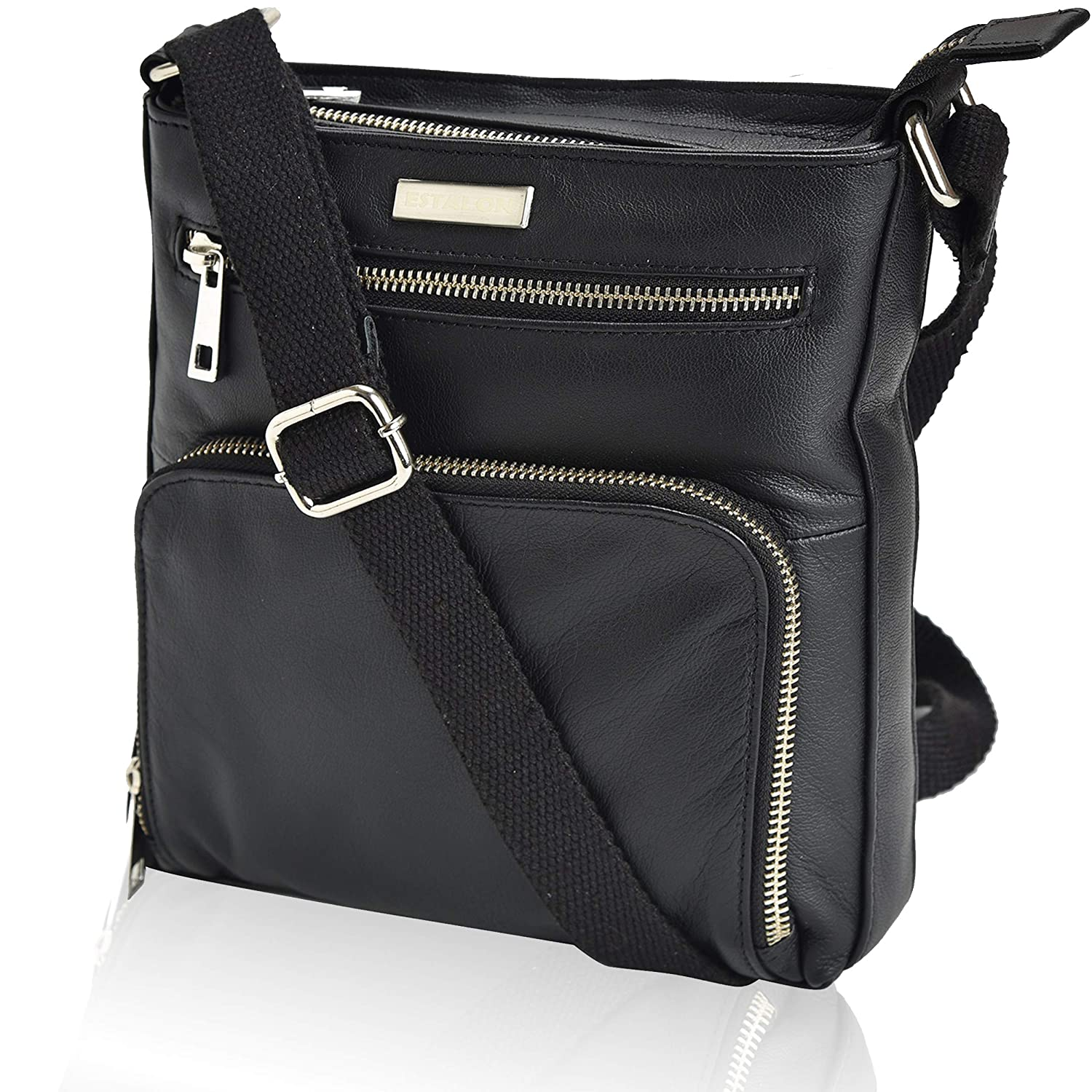 40bf98bce6dc9b Amazon.com: Leather Crossbody Purses and Handbags for Women-Premium  Crossover Bag Over the Shoulder Womens: Clothing