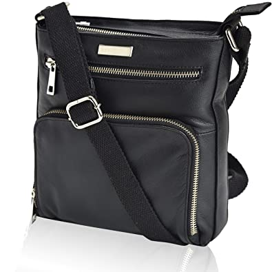b13ed84b5 Amazon.com: Leather Crossbody Purses and Handbags for Women-Premium  Crossover Bag Over the Shoulder Womens: Clothing