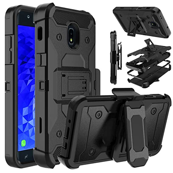 Galaxy J7 Crown Case, Galaxy J7 2018, Galaxy J7 Star, Galaxy J7 Refine  Case, Venoro Shockproof Protection Case Cover with Belt Swivel Clip and