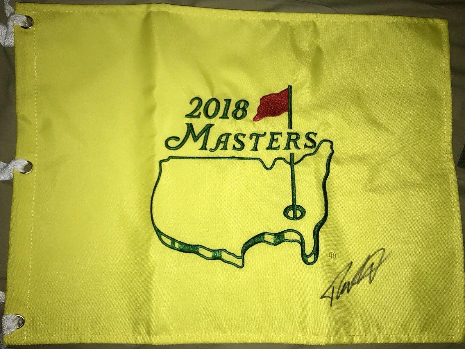 Tommy Fleetwood Signed Autograph Authentic 2018 MASTERS Flag Autographed Pin Flags