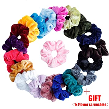 64d1a78d91fc 20 Pcs Hair Scrunchies Velvet Elastic Hair Bands Scrunchy Hair Ties Ropes  Scrunchie for Women or