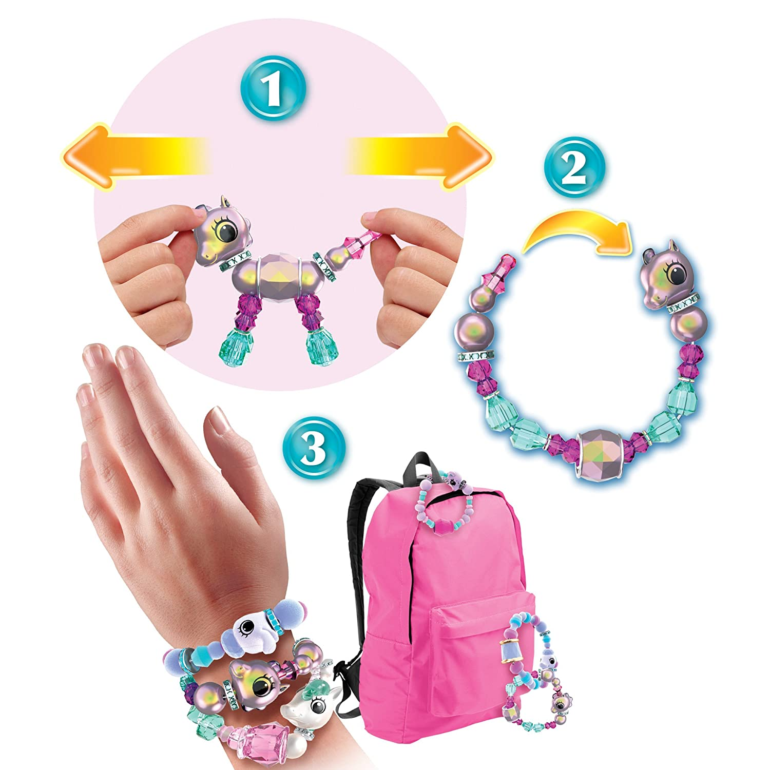 Twisty Petz - 3-Pack - Sunshiny Pony, Posie Poodle and Surprise Collectible Bracelet set