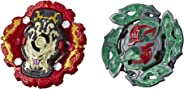 BEYBLADE Burst Rise Hypersphere Dual Pack Viper Hydrax H5 & Dullahan D5 -- 1 Left-Spin & 1 Right-Spin Battling Top Toy, Ages