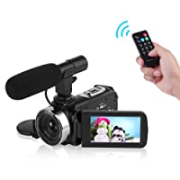 Camcorder Video Camera Full HD 1080P WIFI Camera Night Vision Digital Camera with External microphone Vlogging Camera for YouTube