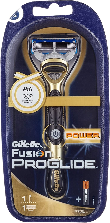 Gillette Fusion ProGlide Poder Shaver Golden Edition: Amazon.es ...