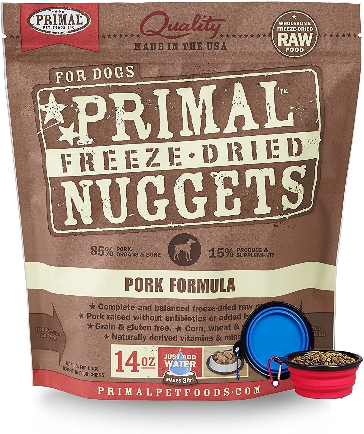 Primal Pet Food - Freeze Dried Dog Food 14-ounce Bag - Made in USA (Pork)