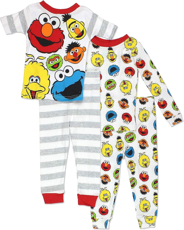 Sesame Street Boys 3-Piece Pajama Set