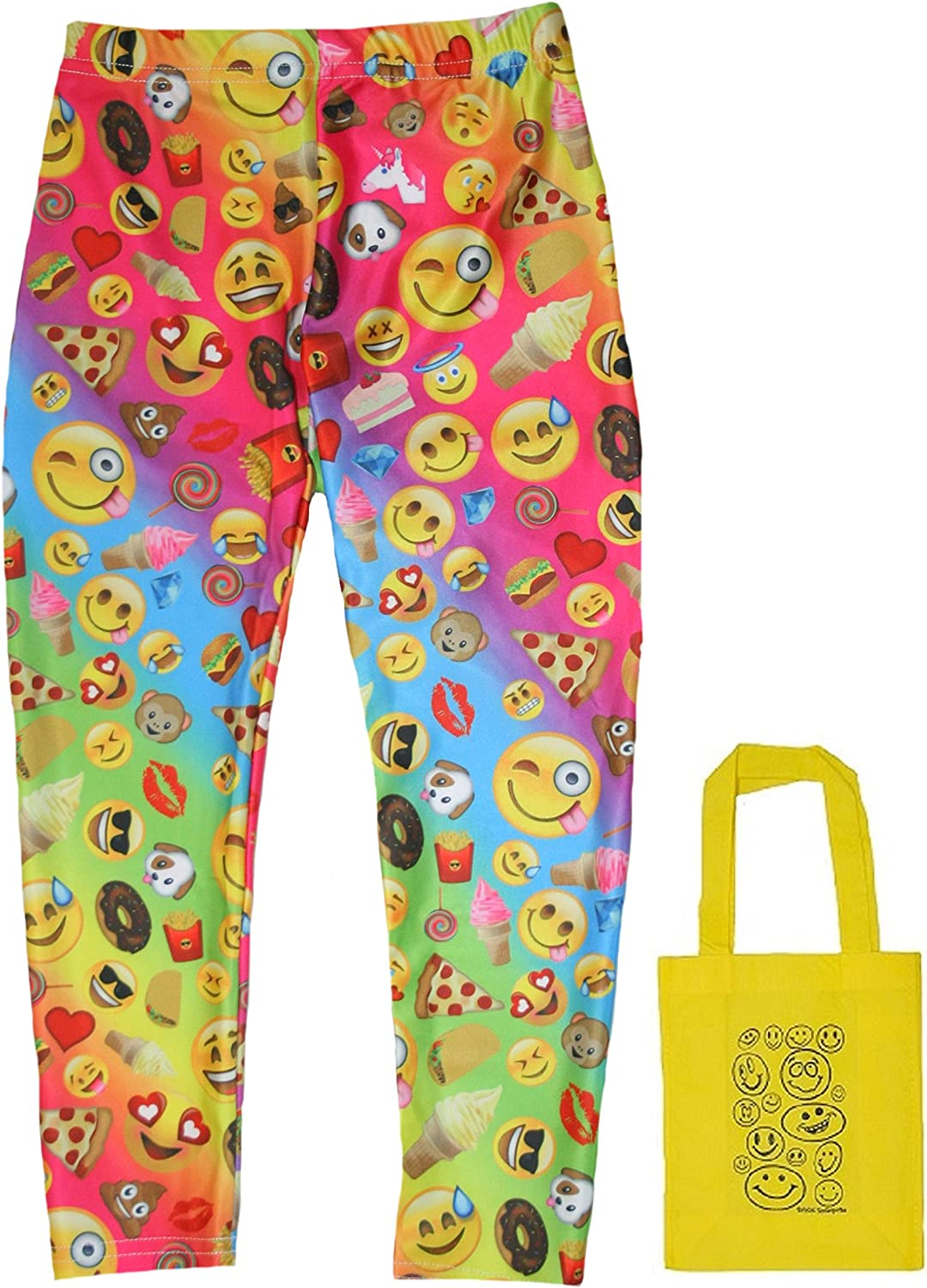 Emojicon Version 2 Faces & Treats Big Girls' Leggings & Tote - 2 Piece Gift Set