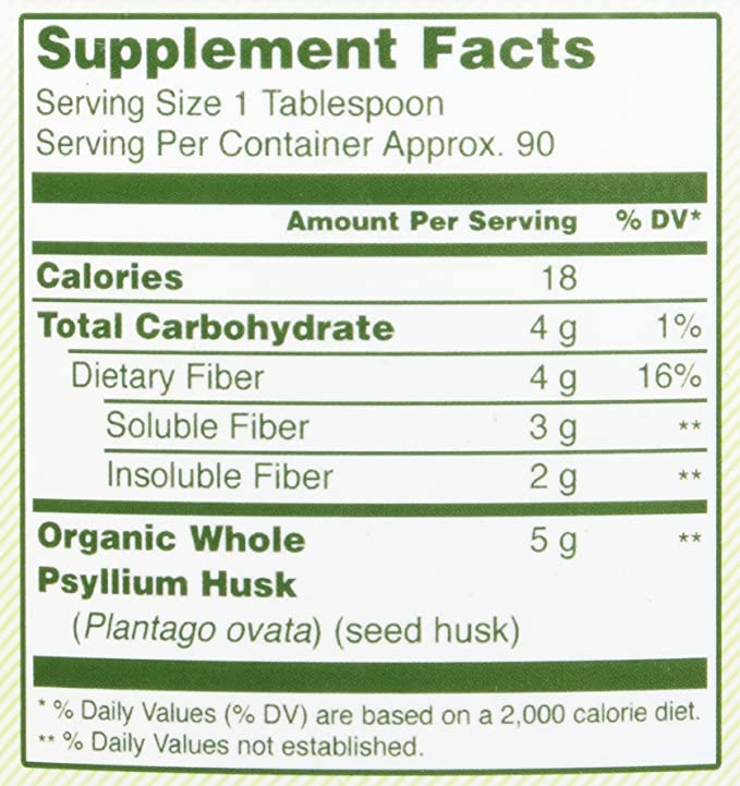Herbal Secrets USDA Certified Organic Psyllium Husk 16 Oz - Vegan, dairy free, GMO free, gluten free, no sugar, and no artificial sweeteners: Amazon.es: ...