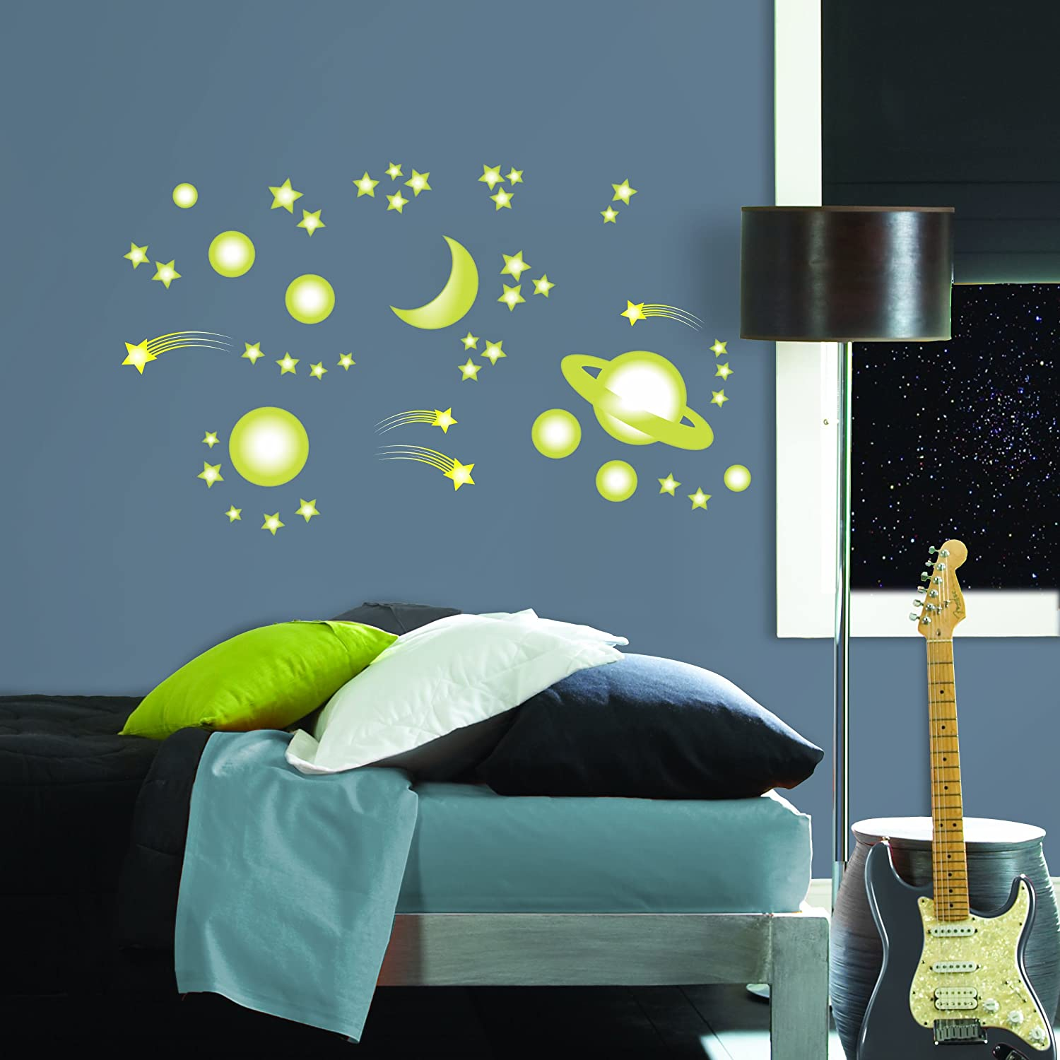 MyStyle MS0105 Outer Space Glow In The Dark Peel And Stick Wall Art    Decorative Wall Appliques   Amazon.com Part 58