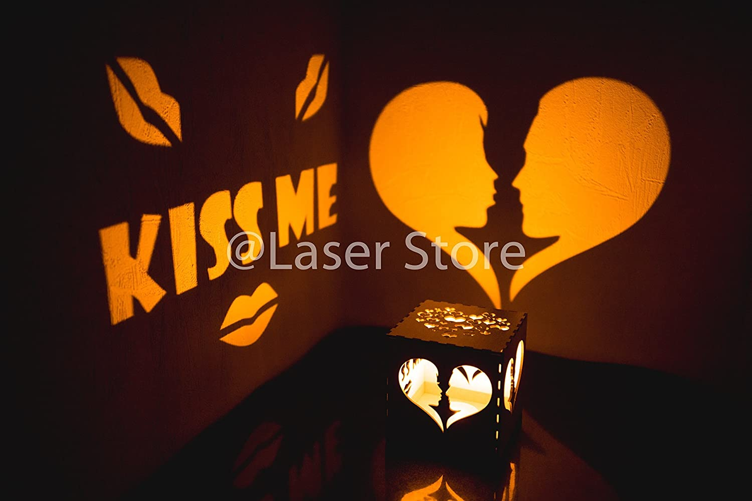 Amazon Nursery Night Lights Kiss Me Gift Girlfriend Birthday Ideas For Her Romantic Present Love Candle Holder Handmade