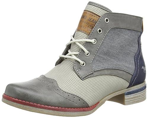 Mustang 1210-503-269, Botines para Mujer, (269 Grau/Dunkelblau), 38 EU: Amazon.es: Zapatos y complementos