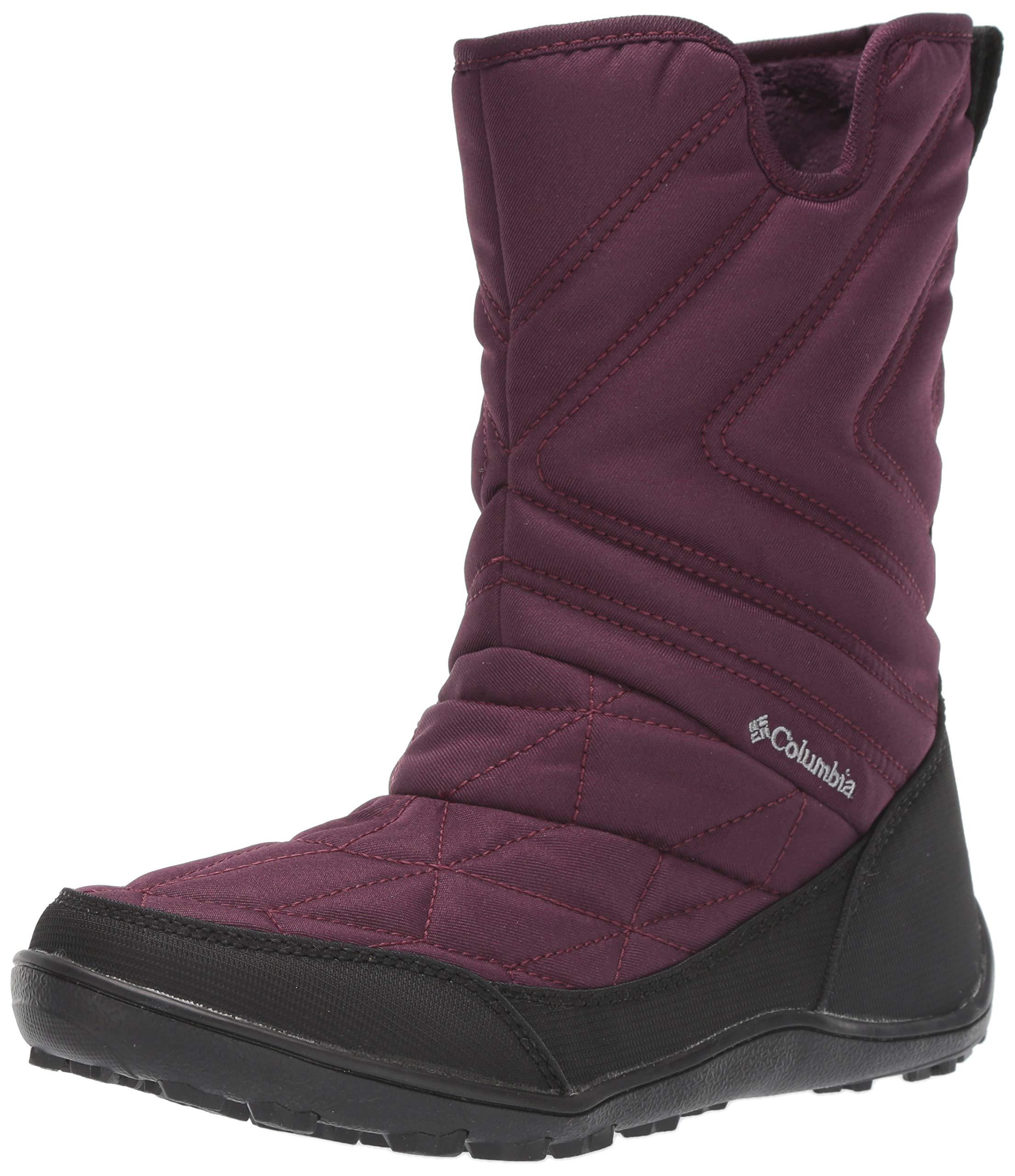 Columbia Women's Minx Slip III Snow Boot, Black Cherry, Grey, 10 Regular US by Columbia