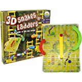 """Little Treasures 3D Snakes """"N"""" Ladders Kids Classic Board Game Family Night Fun Cooler Newer Look then the Original Version Compare to Chutes and Ladders"""