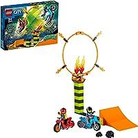 LEGO 60299 City Stuntz Stuntcompetitie Bouwset met 2 Speelgoed Motoren met vliegwielaandrijving, Ring van Vuur, en Duke…