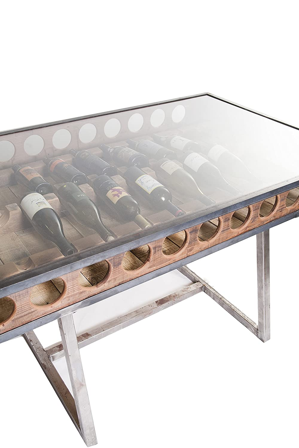 reclaimed winerack dinning table