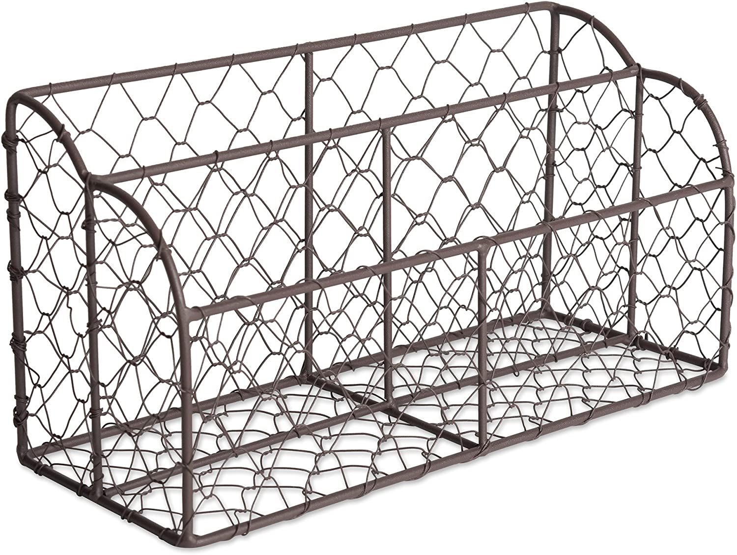 DII Home Traditions Rustic Farmhouse Chicken Wire Letter Holder with Two Slots for Home or Office to Sort and Organize in-Coming or Out-Going Letters and Bills