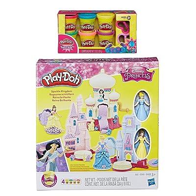 PD Play-Doh Disney Princess Sparkle Kingdom + Play-Doh Sparkle Compound Bundle: Toys & Games
