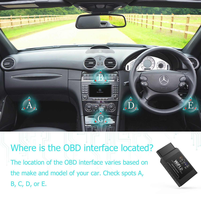 Dr meter OBD2 Car Code Scanner, ELM327 Wifi Car Diagnostic