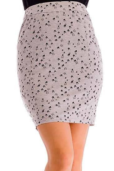 ÇA VA BIEN FASHION] Mujers Falda Cintura Alta Mini - Falda Mujer ...