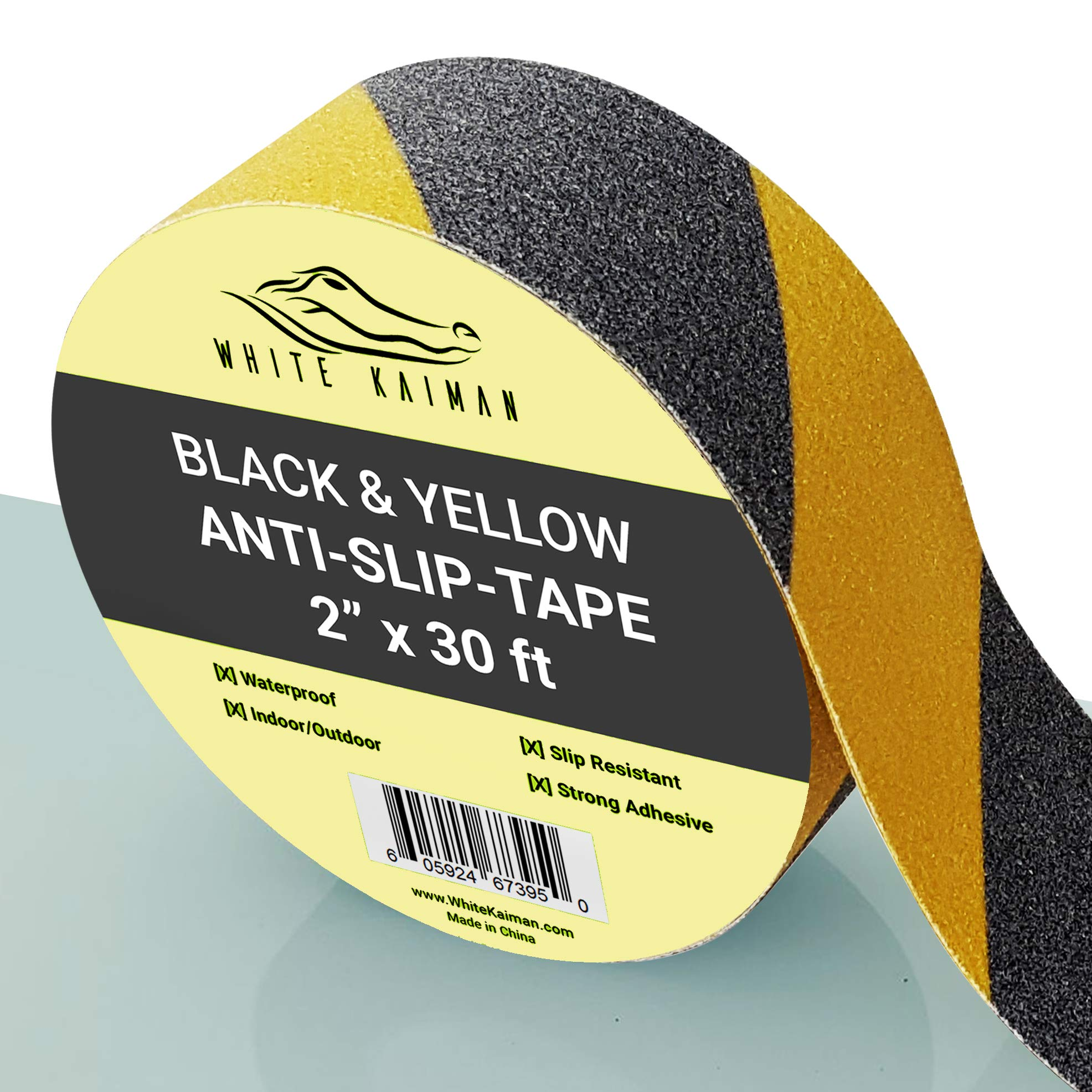 Cinta Antideslizante 5cm. x 9mt. Negro/Amarillo WHITE KAIMAN