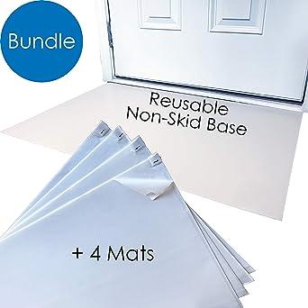EZ-ier Clean Mat 120 Total 24 x 36 White Peel-Away Tacky Mats 30 Sheets Each CASE of 4 MATS