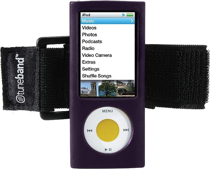 TuneBand for iPod nano 5th Generation (Model A1320, Rear Camera), Premium Armband, Compatible with Nike+iPod, PURPLE