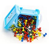 Officepal Push Pins with Colorful Plastic Head and Steel Needle Point (180 Count)