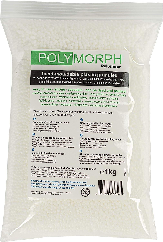 Polyshape Polymorph Bolsa de plástico moldeable a Mano, 1kg ...