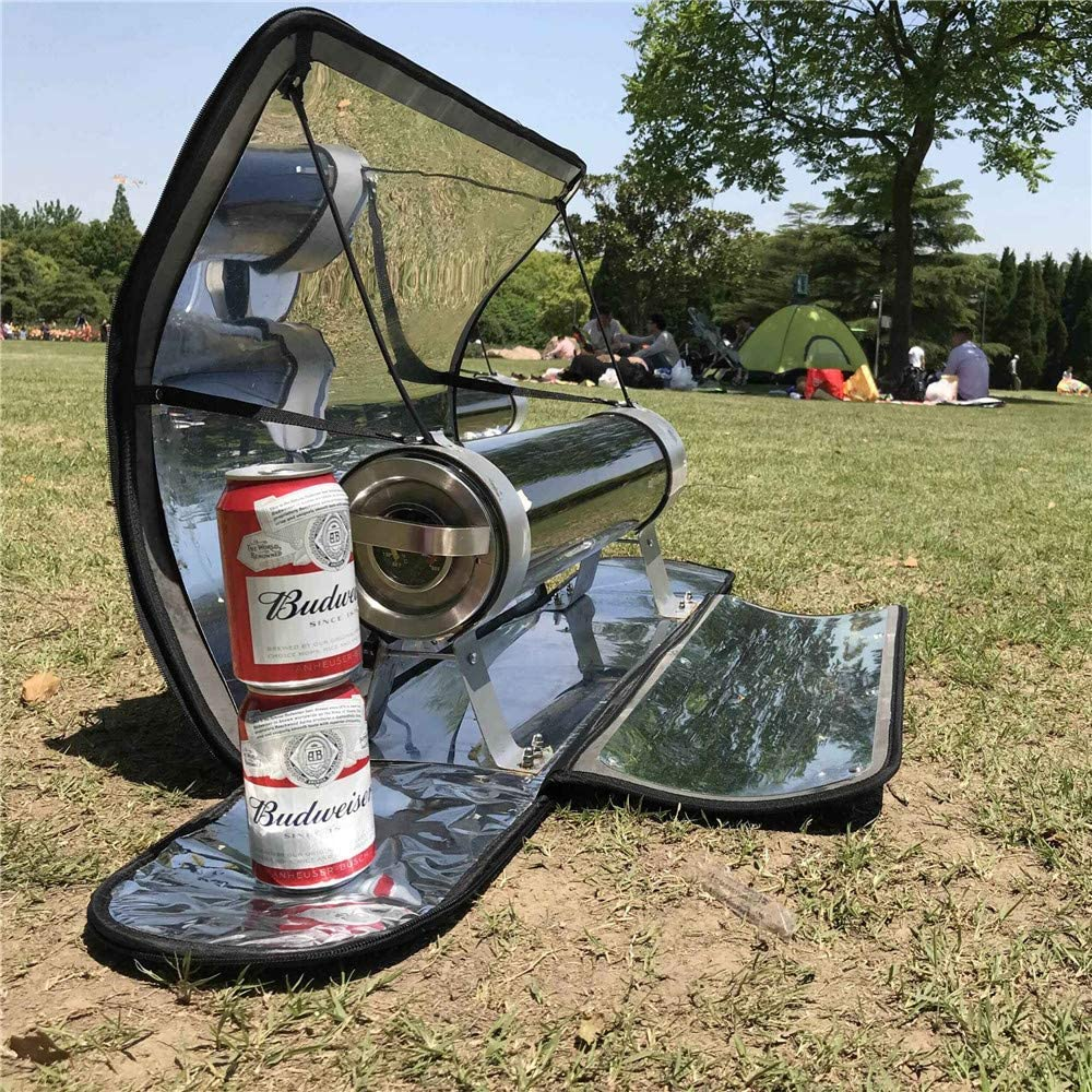 SEAAN Outdoor Integrated Solar Cooker Portable Parabolic Solar Cooker with Higher Efficiency Maximum Temperature 288/°C 550/°F