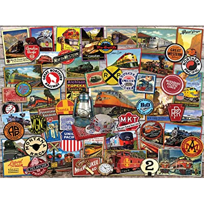 White Mountain Puzzles All Aboard-1000 Piece Puzzle - Designer: Lewis T. Johnson: Toys & Games