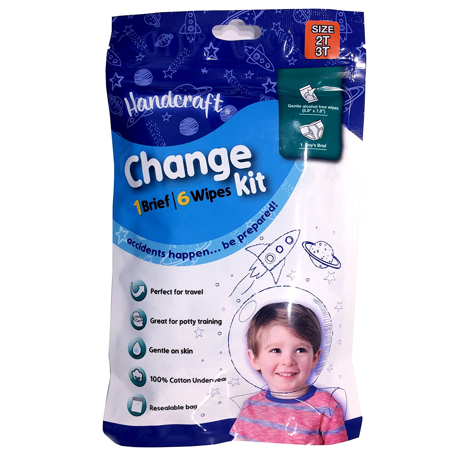 Amazon.com: Handcraft Toddler Boys 3-Pack Change Kit Brief + 6 Wipes: Clothing