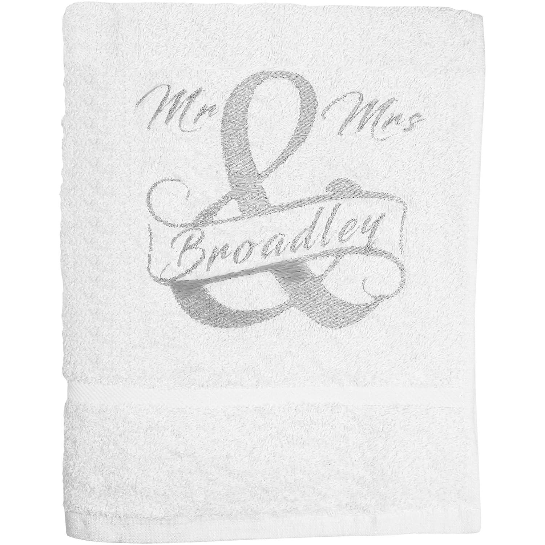 Mr /& Mrs Personalised Bath Towels Wedding Gift