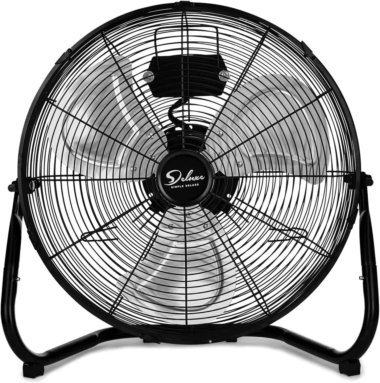20 Inch 3-Speed High Velocity Heavy Duty Metal Industrial Floor Fans Oscillating Quiet for Home, Commercial, Residential, and Greenhouse Use, Outdoor/Indoor, Black