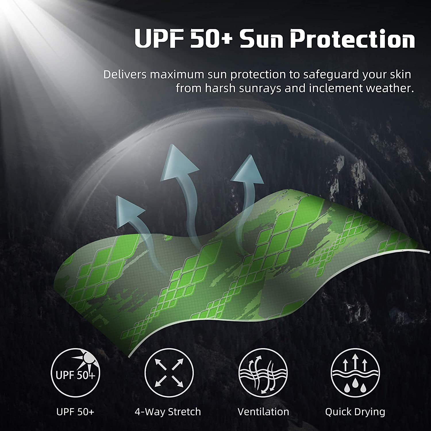 Half-Finger Style Mowing Kayaking UPF 50+ Sun Protection Fishing Gloves Cycling Sun Gloves Breathable Ventilation Rowing RUNCL Fingerless Gloves RAGUEL Gardening Microfiber-Tech Safeguard