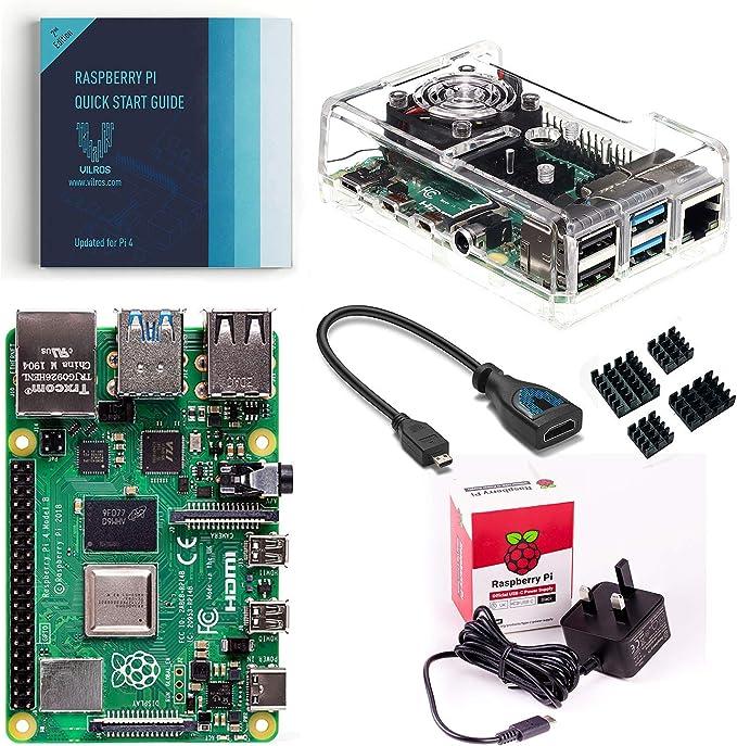 Vilros Raspberry Pi 4 - Kit básico de iniciación con ventilador y ...