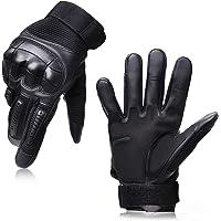 BIG VALLEY バイク グローブ 手袋 夏 冬 メッシュ 耐衝撃 スマホ タッチパネル対応 (ブラック, M)