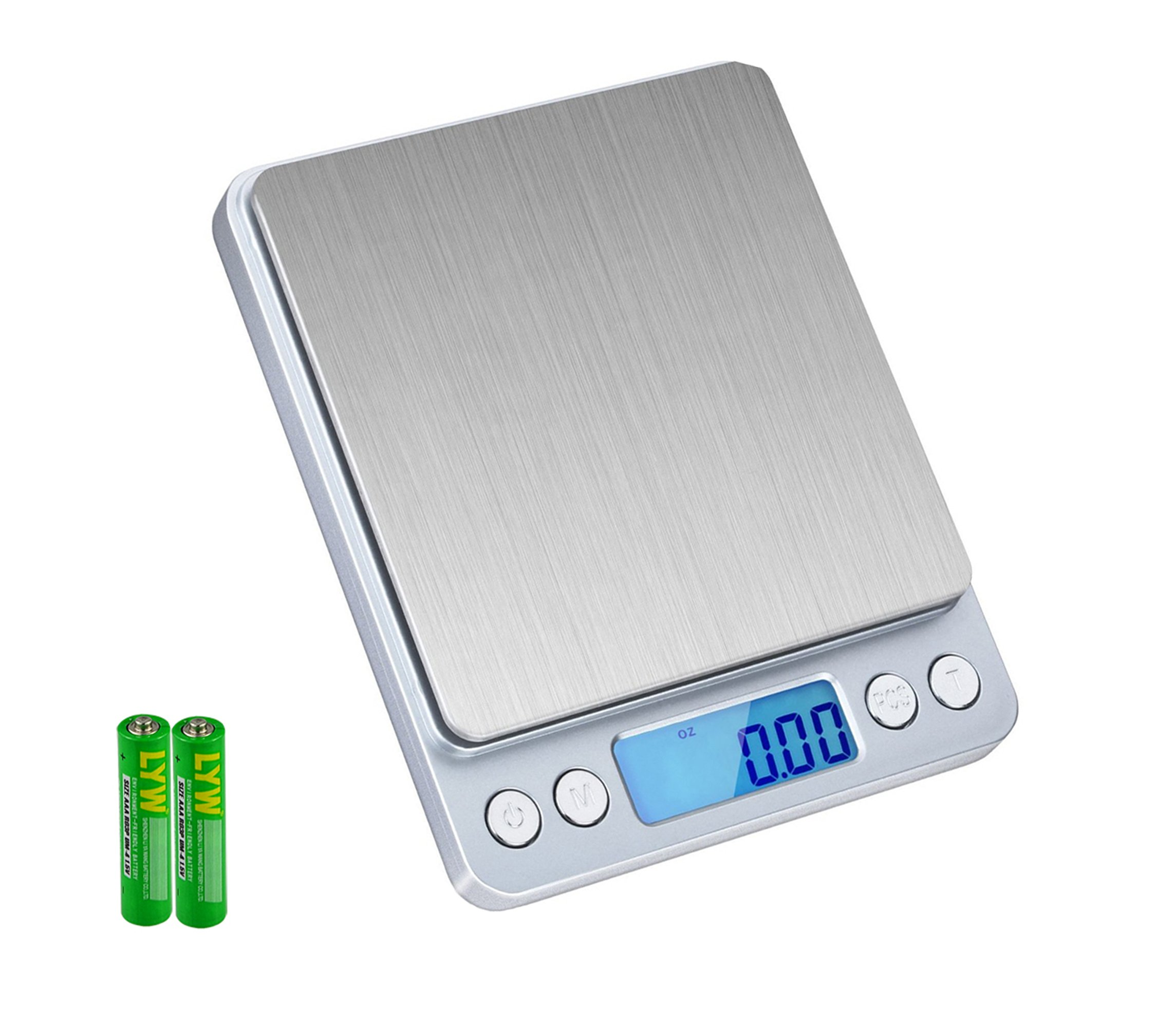 Digital Food Scale, SKYROKU High-precision Kitchen Scale Multifunction Digital Pocket Scale with LCD Display 3Kg