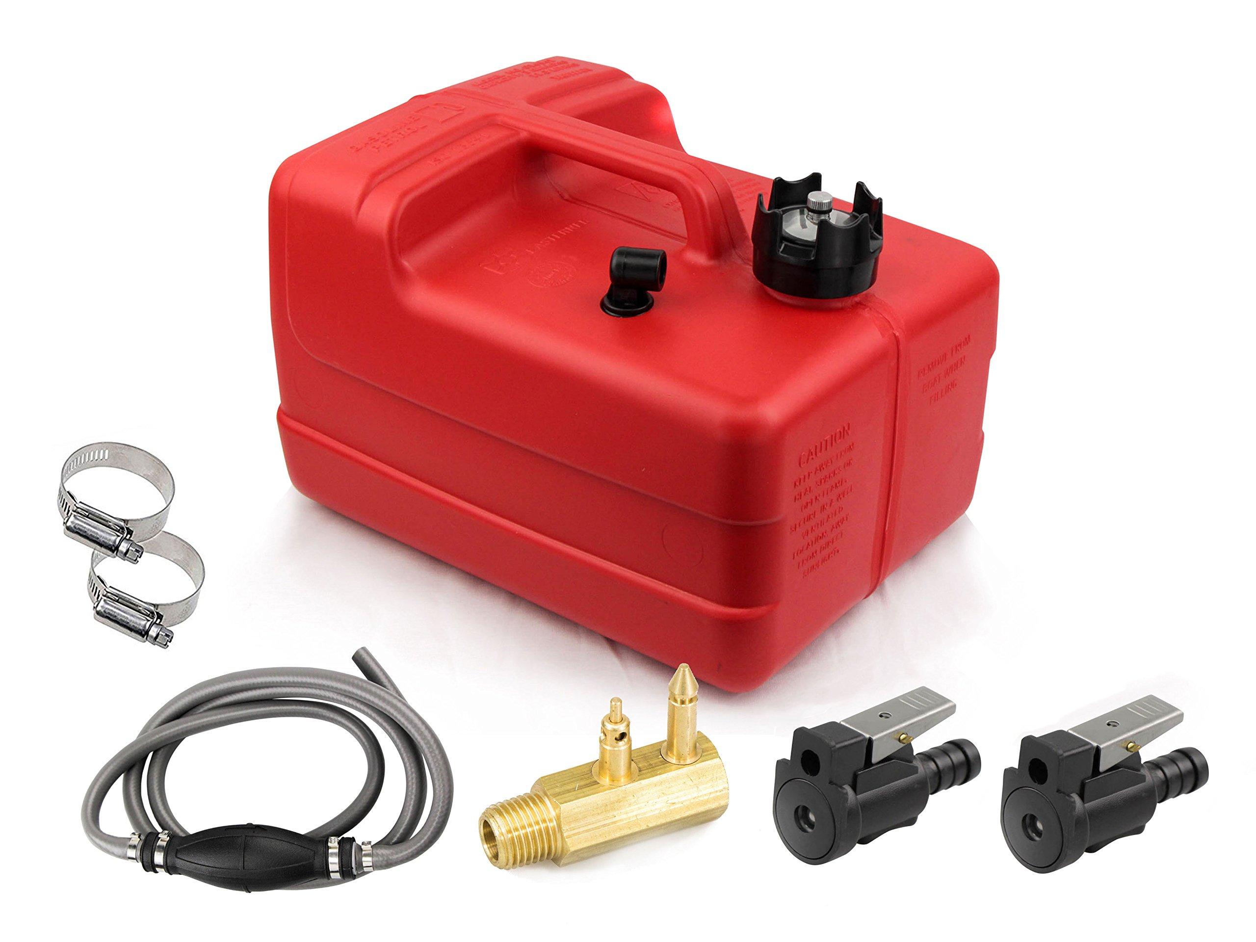 Five Oceans 3 Gallon Fuel Tank/Portable Kit (5/16'' Omc - Johnson - Evinrude)