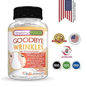 Goodbye Wrinkles - Premium Hydrolized Collagen, Hyaluronic Acid, CoQ10, Alpha-Lipoic Acid, Resveratrol, VIT. E and More – Say Goodbye to Wrinkles – ...